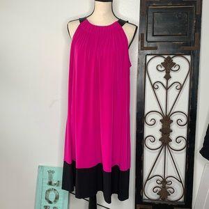Calvin Klein color block sheath dress Sz 1x